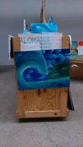 mayumi tsubokura wave painting and explanation of the meaning of hawaian word 'ALOHA'