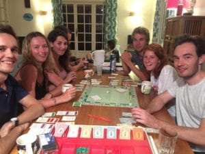 nami house's guests playing monopoly