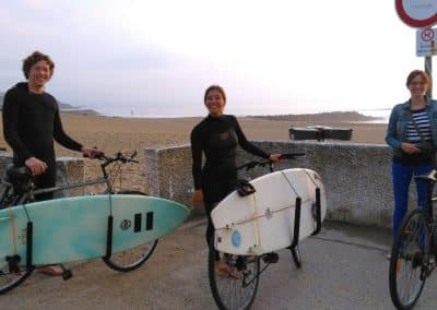 surf and bike in anglet beach