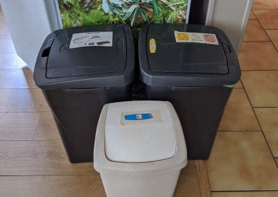 different garbages for waste sorting